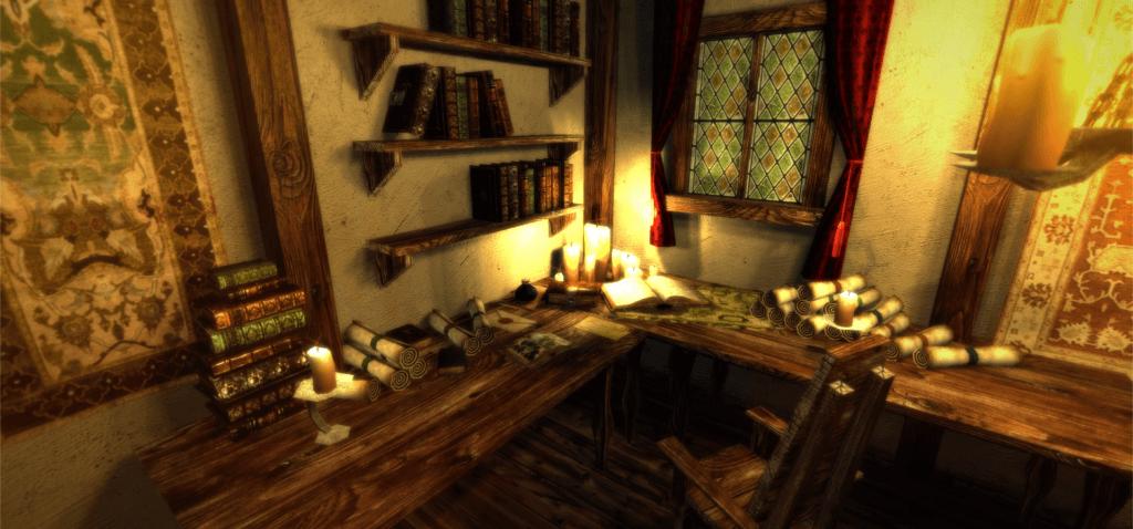 Wizard work room.