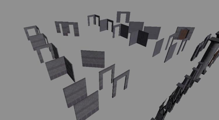 Modular wall pieces