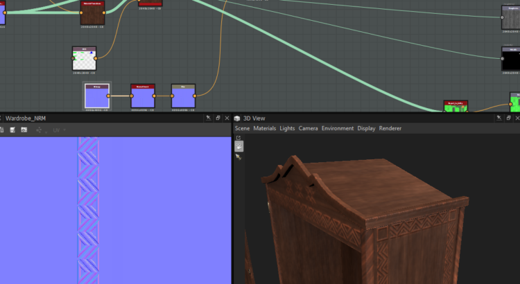 Combining and adjusting normals in Substance