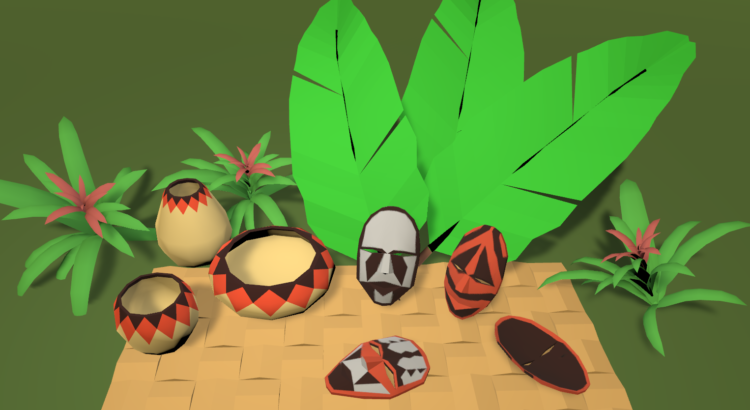 Tribal masks and props