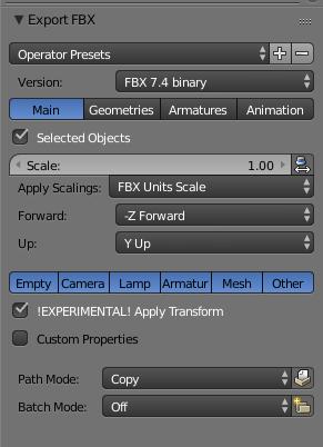 Export in FBX from Blender to Unity - Runemark Studio