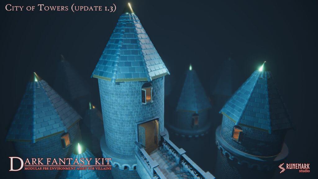 Dark Fantasy Kit - city of towers