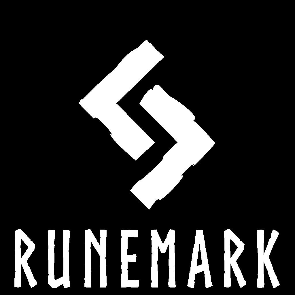 Runemark logo white